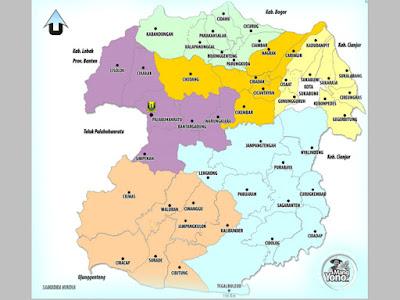 Kelurahan / Desa, Kecamatan dan Kode Pos Kab. Sukabumi, Prov. Jawa Barat