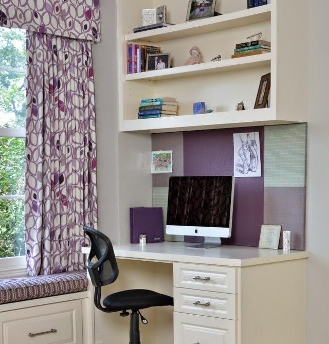 dormitorio juvenil lila gris