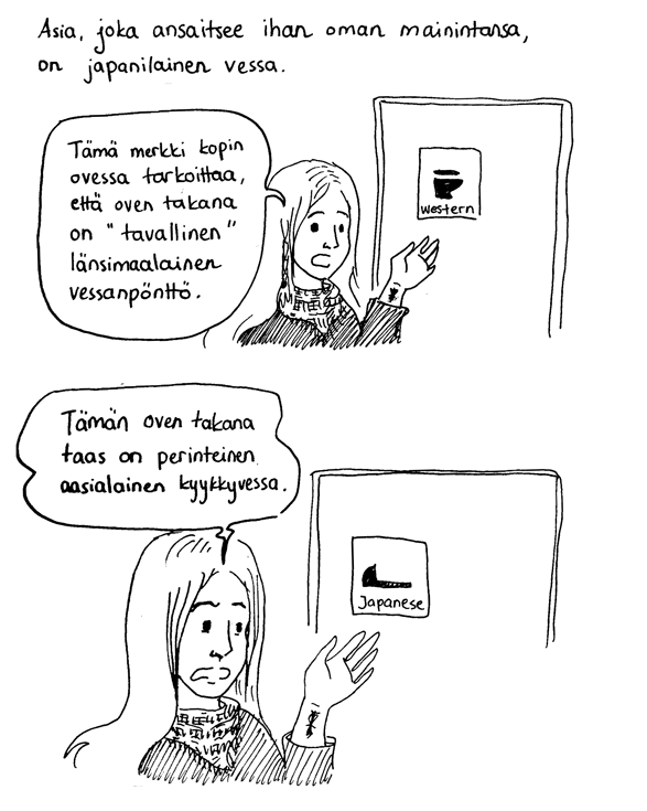 japanilaiset merkit näkyviin