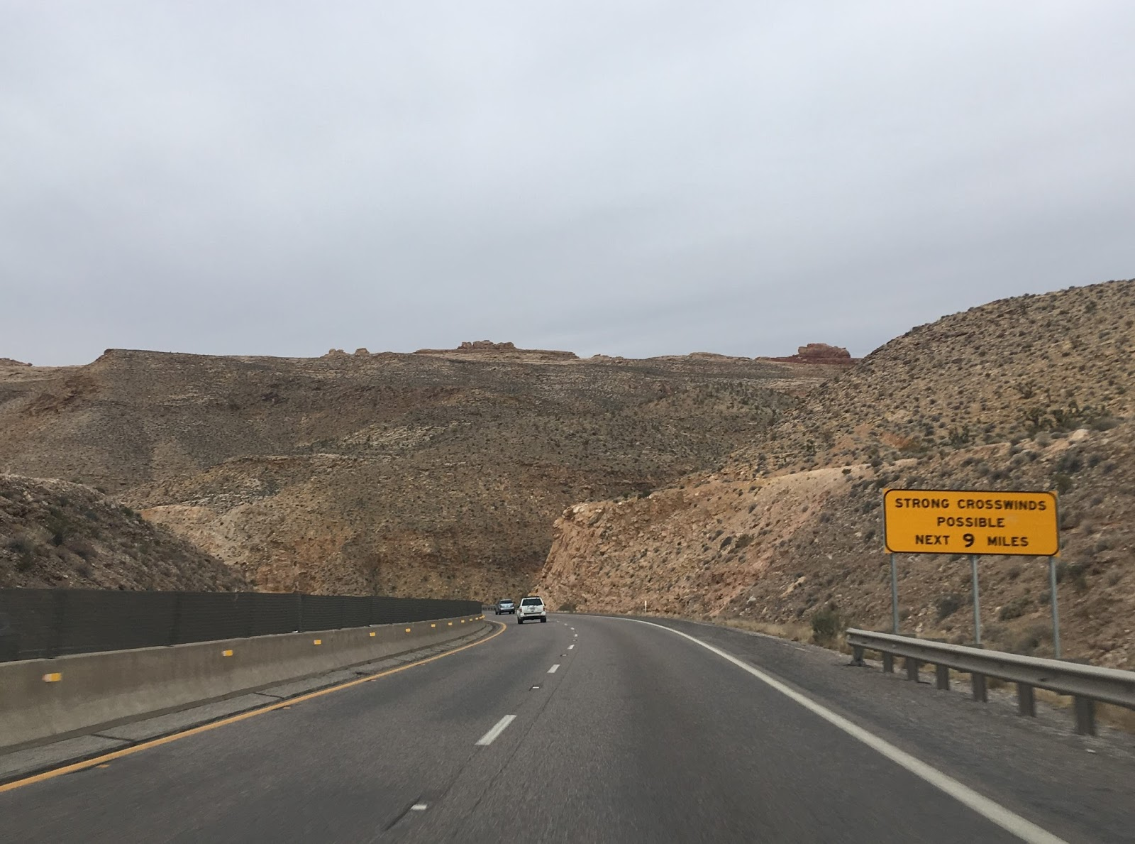 exiting the virgin river gorge the terrain on i 15 flattens back out and 75 mph speeds resume
