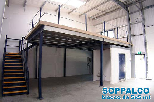 Soppalchi industriali per magazzino soppalchi nuovi e for Soppalco d arredo