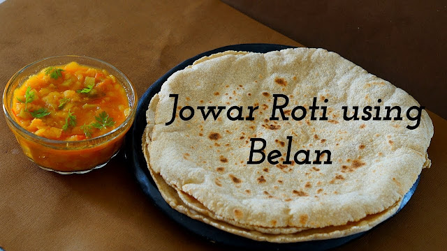 Jowar Roti - Jowar Roti with Belan - Jowar Bhakri - Jolada Roti - Jonna Rotte - Gluten Free Bread