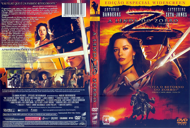 Capa DVD A Lenda do Zorro