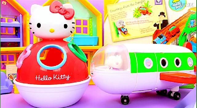 Hello Kitty Kırmızı Uçak ve Oyuncakları