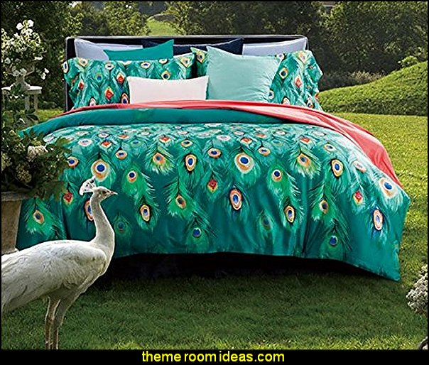 Peacock Print set Peacock Duvet Cover