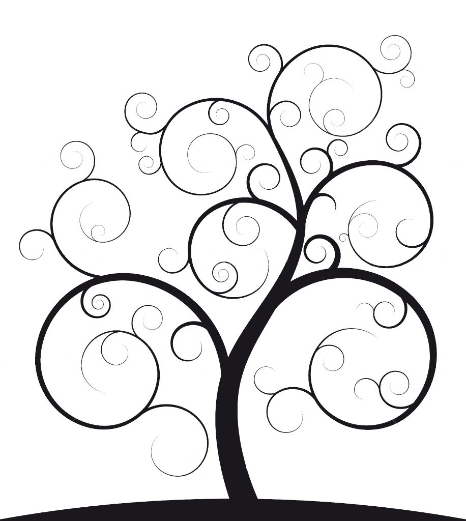 plain family tree template - mathematical paintings and sculptures spiral trees