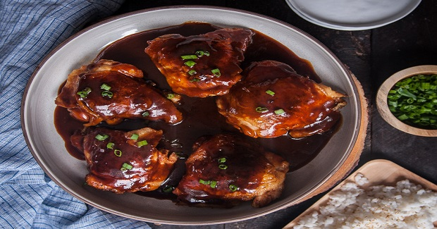 Baked Asian Beer Barbecue Chicken Thighs Recipe