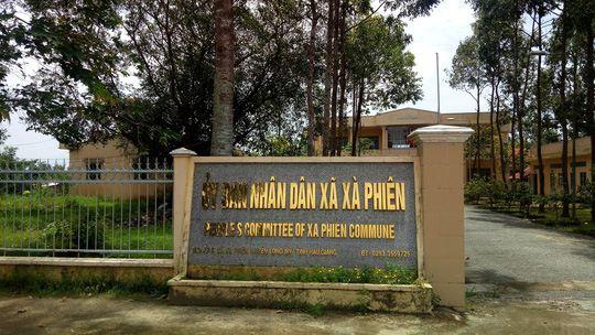 UBND xã Xà Phiên, nơi bà N. công tác