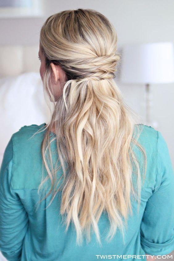simple hairstyles half up