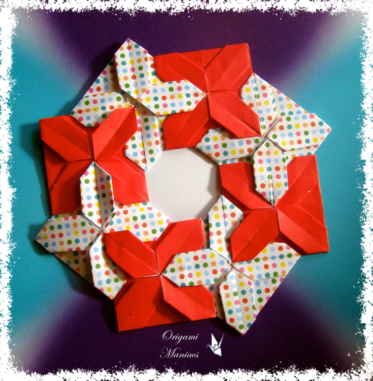 origami maniacs 5 christmas wreaths 5 guirnaldas navidenias