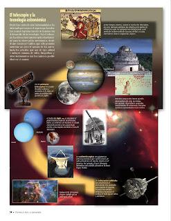 Apoyo Primaria Atlas de Geografía del Mundo 5to. Grado Capítulo 1 Lección 1 El Telescopio y la Tecnología Astronómica
