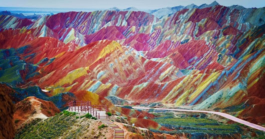Rainbow |Oil Painted Mountains