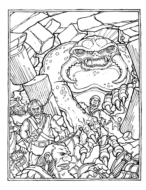 Dungeons And Dragons Colouring Pages
