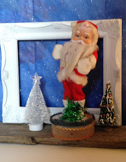 Vintage Santa Claus Music Box