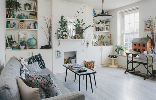 lareira na sala, decoracao clean, decoracao clara, sala iluminada, decoracao bonita, sala
