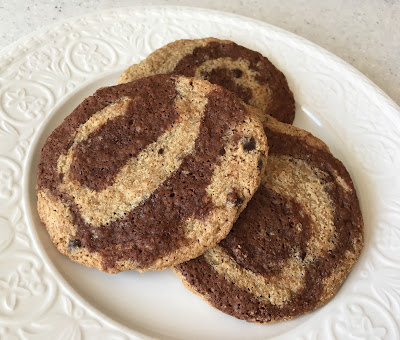 Gluten Free Brownie Chocolate Chip Swirl Cookies