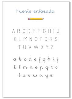Fuente escolar, enlazada o caligráfica para proyectos educativos. creada por Eva Barceló