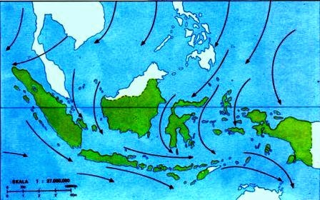 Angin Muson Barat dan Angin Muson Timur dan Proses Terbentuknya Angin Muson
