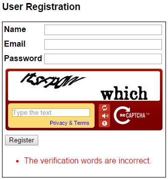 Using ASP.NET validation controls with recaptcha