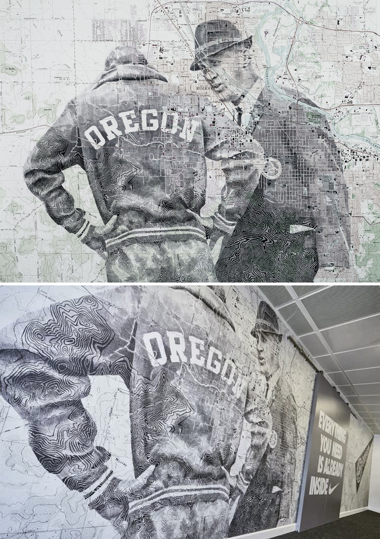 07-Nike-HQ-Illustration-Edward-Fairburn-Maps-and-Cartography-linked-to-Portrait-Drawings-www-designstack-co
