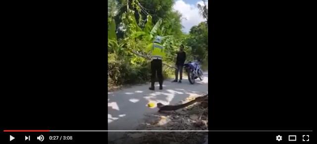Video - Polisi Berbadan Besar Ketakutan Saat Di Tantang Anak SMA Duel Adu Fisik.