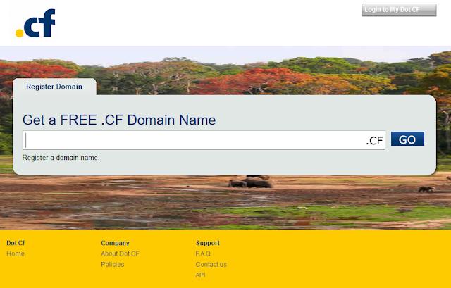 Dot CF - Free Domain Name