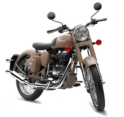 Royal Enfield Classic 500 Desert Storm front angle image