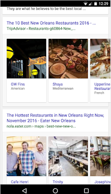 Rich Cards expands to more verticals - Google Updates