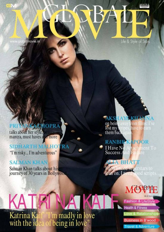Katrina Kaif On The Cover of Global Movie Magazine India August 2017