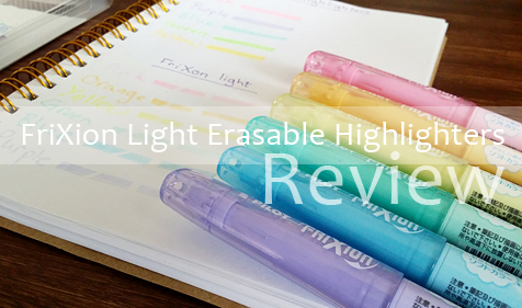 Pilot Frixion Light Erasable Highlighter Review
