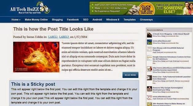 ATB Responsive Blogger Template