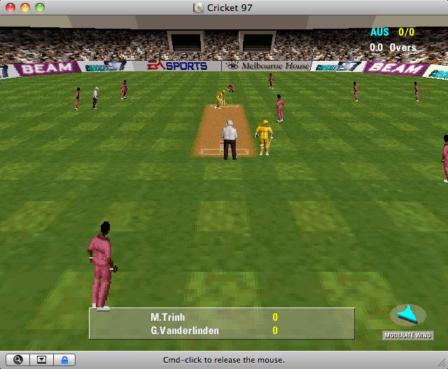 Cricket 97 on XP