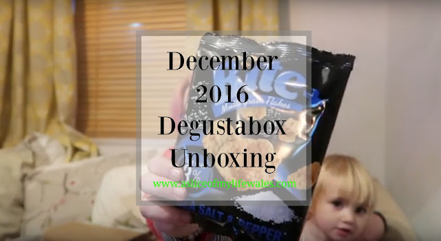 december 2016 degustabox unboxing - a monthly subscription box for surprise foodie items
