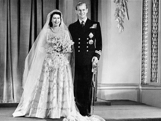 Królewskie Śluby - Elżbieta II i książę Filip.