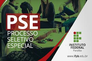 Processo Seletivo Especial: IFPB lança edital para cursos superiores