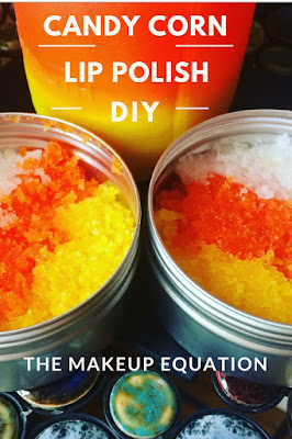 Candy Corn Lip Polish Scrub DIY