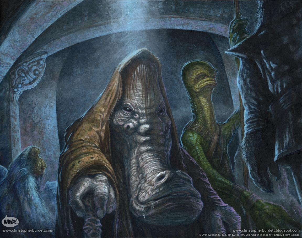 The DOODLES DESIGNS And ART Of CHRISTOPHER BURDETT Ephant Mon Star Wars Process