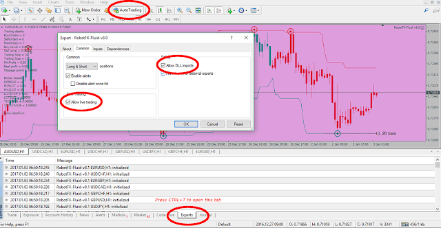 Enable the AutoTrading, Allow live trading, Allow DLL imports and check the Experts logs for errors.