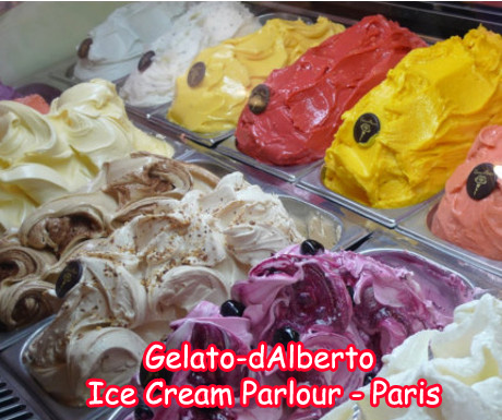 Gelato dAlberto Ice Cream Parlor in Paris