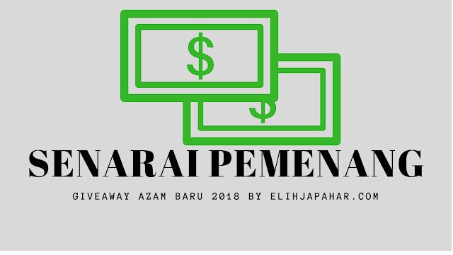 Menang Cash daripada Blogger Elih Japahar