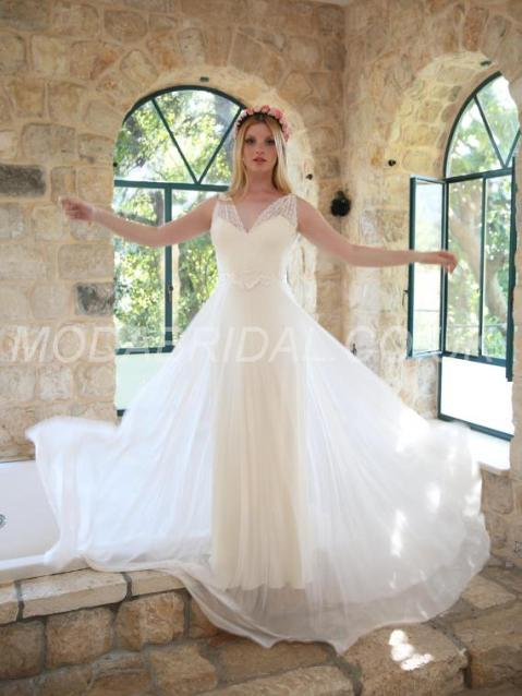Tailor made Court Beach Sexy & Hot Backless Spring A-line Natural Sleeveless Wedding Dress – Price: GBP £ 129.37