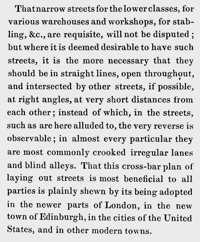 1833 London street grids