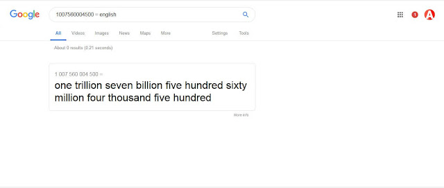 big number google trick