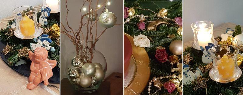 Aktuelle Weihnachtsdeko und Adventskranz