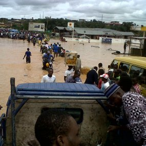00r Rainfall in Lagos, photos of the After effect