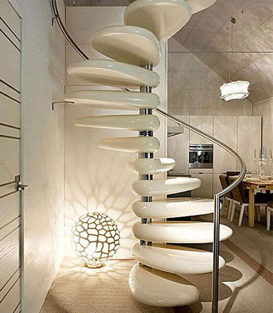 gambar model desain tangga super unik