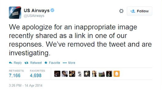 Public Relations Disaster: US Airways Pornographic Tweet