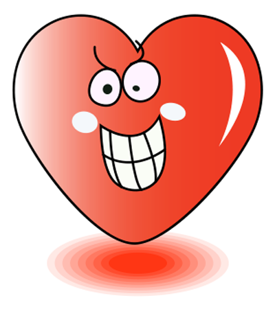 Goofy grinning heart icon
