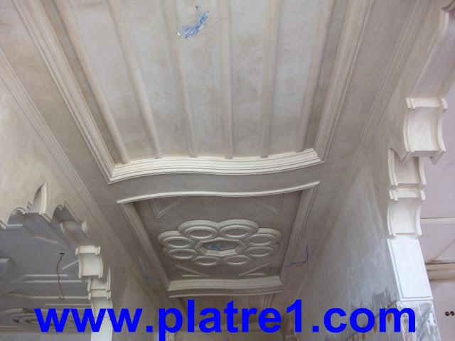 Faux plafond plâtre couloir