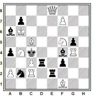 Problema de mate en 2 compuesto por Hrvoje Bartolovic (1º Premio, The Problemist 1972)